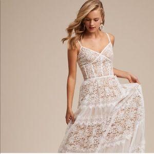 Uma Dress - White Lace Summer Gown